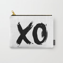XOXO Hugs and Kisses black and white gift for her girlfriend bedroom art and home room wall decor Carry-All Pouch