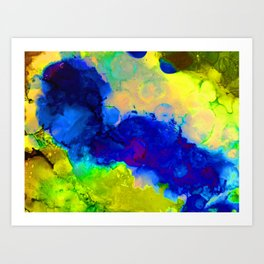 Expression in Blue Art Print