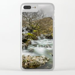 Lone Tree On The River Clear iPhone Case