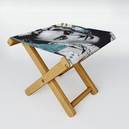 Tribute to Frida Kahlo #26 Folding Stool