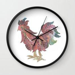 Zen Rooster Wall Clock