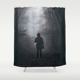 Halloween Figure in the Dark (Color) Shower Curtain