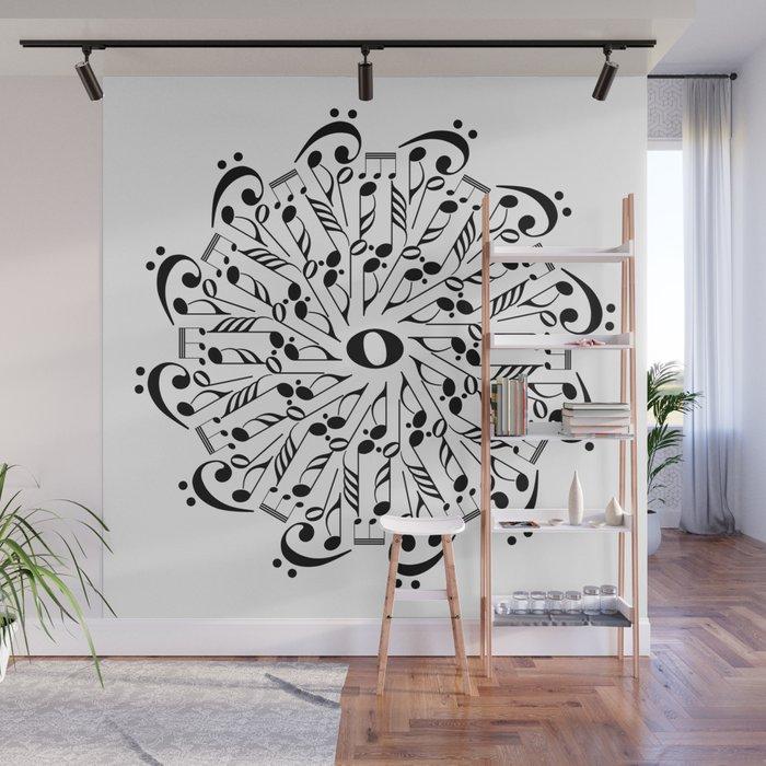 Musical Mandala Wall Mural