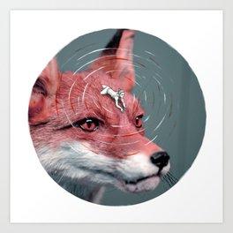 Foxy rider - A re-visit Art Print