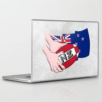 new zealand Laptop & iPad Skins featuring Rugby Ball New Zealand by mailboxdisco