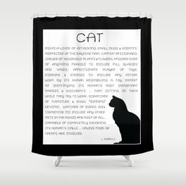 Cat Defined Shower Curtain