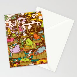 monks into the wood Stationery Cards