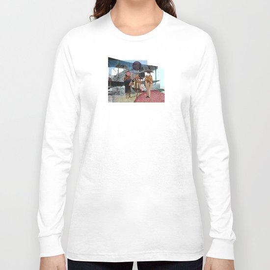 Flieger, gruess mir die Sonne... Collage Long Sleeve T-shirt
