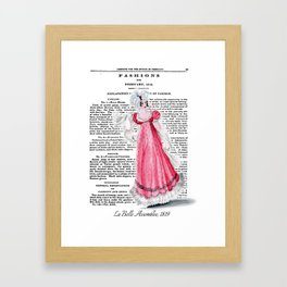 Regency Fashion Plate 1819, La Belle Assemblee Framed Art Print