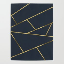 Copper and Midnight Navy Poster