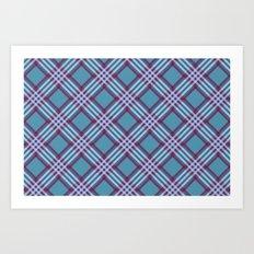 Angled Stripes - Digital Work Art Print
