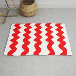 ZigZag-red soft Rug