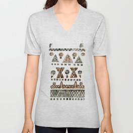 Tinos Brown Pigeon House Unisex V-Neck