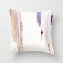 Sugar and Spice [2]: a minimal, pretty abstract piece in pinks, purple, mauve, and tan Throw Pillow