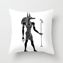 Anubis – God of ancient Egypt Throw Pillow