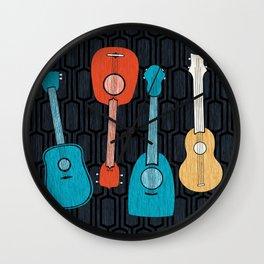 Hawaiian Ukuleles Wall Clock