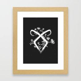 Angelic Rune Framed Art Print