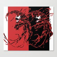carnage Canvas Prints featuring Carnage by Young Jake
