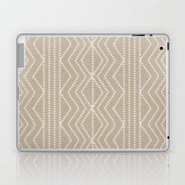 Cream Linen Beige Arrows Pattern Laptop & iPad Skin