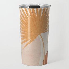 Tropical Leaf- Abstract Art 49a Travel Mug