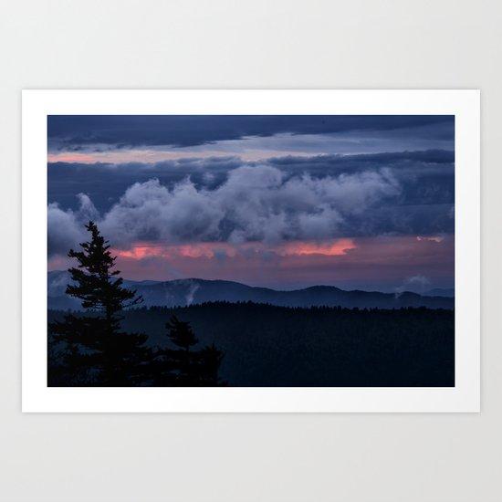 Sunset at the Smoky's Art Print