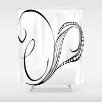 cassia beck Shower Curtains featuring Cassia Kalkora by Jennifer Broderick