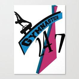 247 Gymnastics Horse pinkblue Canvas Print