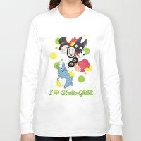 studio ghibli Long Sleeve T-shirts featuring I ♥ Studio Ghibli by Lacis