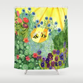 Bumblee Bee LOVE Shower Curtain