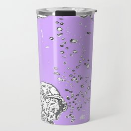 Two Tailed Duck and Jellyfish Purple Grape Travel Mug