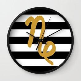 Capricorn Stripes Wall Clock