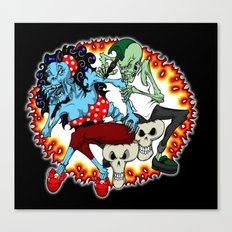 tattooing zombies Canvas Print