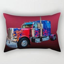 American Truck Red Rectangular Pillow