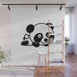Happy Panda Bear Napping Wall Mural