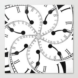 Clock Flower Canvas Print