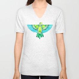 Parrot – Blue & Green Unisex V-Neck