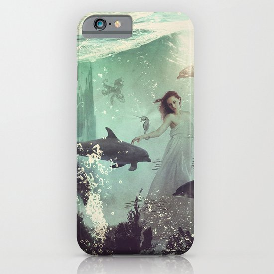 The Sea Unicorn Lady iPhone & iPod Case