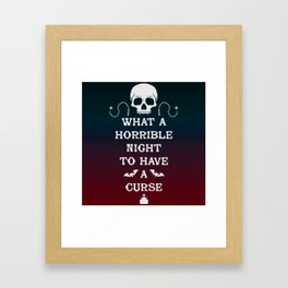Gamer Geeky Chic Castlevania Inspired What a Horrible Night to Have a Curse Framed Art Print