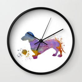 Dachshund art Wall Clock
