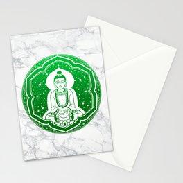 Buda Gautama, Siddharta Gautama, Sakiamuni (green) Stationery Cards