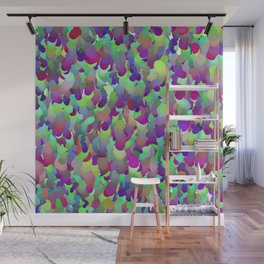 ombre squiggles Wall Mural