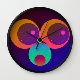 Monkey Planets (1/2) Wall Clock
