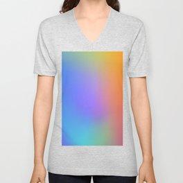 Colorful Multicolor Rainbow Gradient / GFTgradient011 Unisex V-Neck