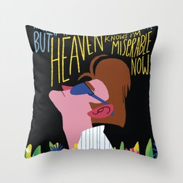 The Smiths - Heaven knows I'm miserable now Throw Pillow