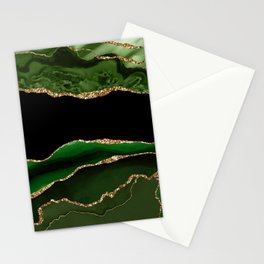 Emerald Marble Glamour Landscapes Stationery Cards
