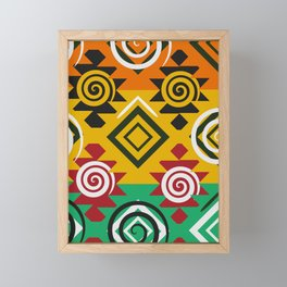 Geometric festival Framed Mini Art Print