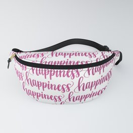 Happiness (Pink Gradient) // Hand Lettering Handwritten Fanny Pack