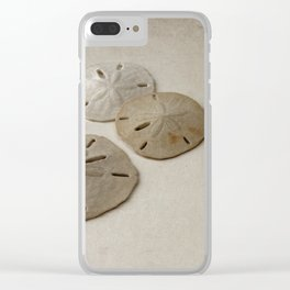 Vintage Sand Dollars Clear iPhone Case