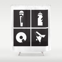 hiphop Shower Curtains featuring Style HipHop by Gold Blood