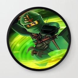 ninja green Wall Clock